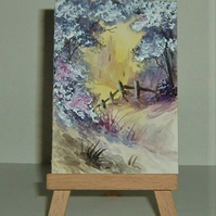 fantasy aceo original art painting ( ref FK44)