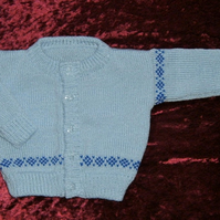 "Button up knitted Baby's cardigan 21"" chest  ( ref f51)"