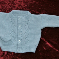 Baby's button up knitted cardigan (ref F 86)