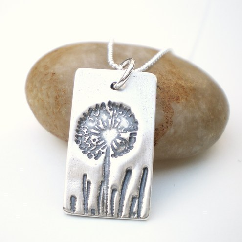 Dandelion Wish Silver Necklace