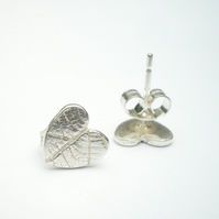 Autumn Leaves, Tiny Silver Leaf Studs