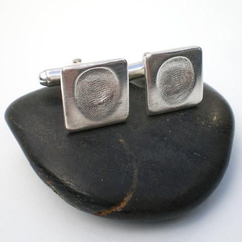 Imprint Me Silver Cufflinks - Wedding Jewellery, Fathers Day