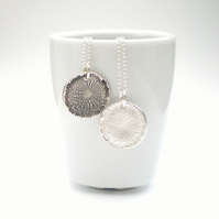 Silver Dandelion Necklace