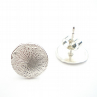 Silver Dandelion Earrings