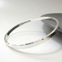 Hammered Personalised Bangle