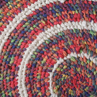 Recycled Rainbow Toothbrush Rug