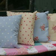 pair of shabby chic cushions