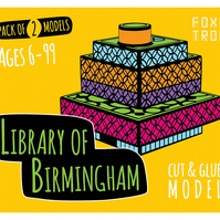 Library of Birmingham FoxeTroo Cut-Out Paper Model Kit for Kids