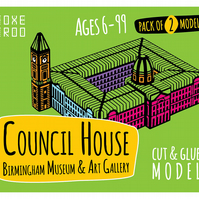 Birmingham Council House, Museum & Art Gallery FoxeTroo Cut-Out Paper Model Kit