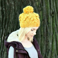 PDF Knitting Pattern - Cable Knit Hat - Alafoss Lopi - Icelandic Wool Hat