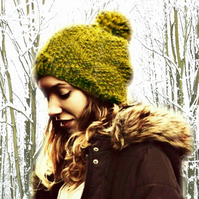 Hand Knitted Hat - Super Chunky Wool