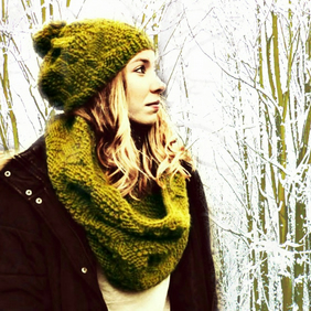 Knitted Hat & Cowl - Wool Hat - Wool Cowl - Wool Scarf