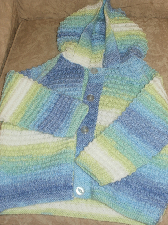 Hand knitted child's hoody