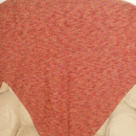 Lady's triangular shawl