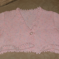 Hand knitted child's bolero