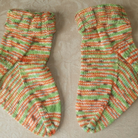 Hand knit ankle slouch socks