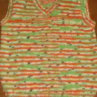 Hand knit child's tanktop