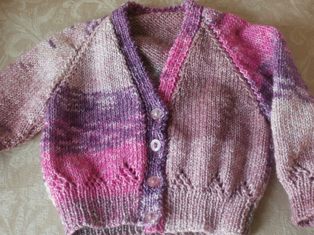 Hand knitted child's cardi