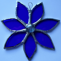Stained glass suncatcher, window, wall hanging decoration, gift idea.