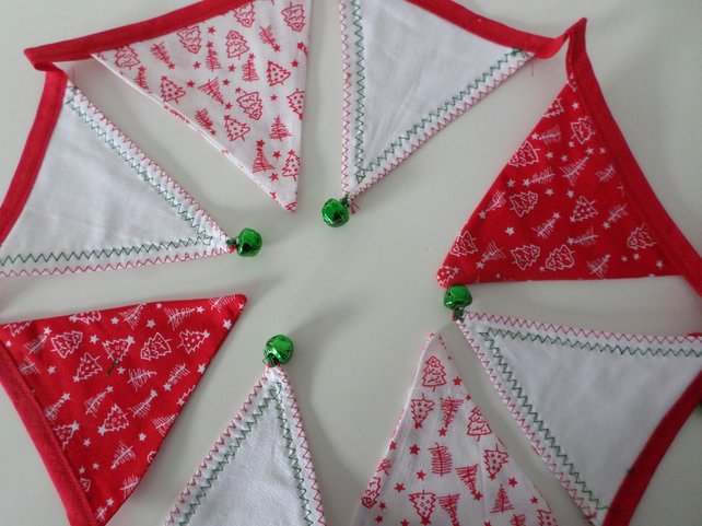 Christmas bunting, garland,red green, white