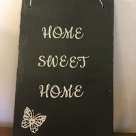 Word art wall hanging,  slate, gift idea