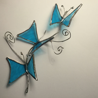 Stained glass Butterflies,, wall art, suncatcher