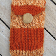 funky hand knitted mobile phone cover
