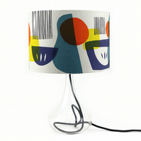 30 cm diameter  Handprinted Lampshade for a lampbase