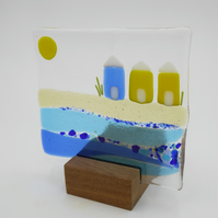 Beach Huts Seaside  Sun Catcher Tea Light