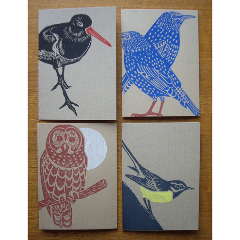 British Birds card set (Lino prints)