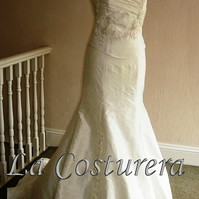 Mulberry Silk Couture Wedding Dress