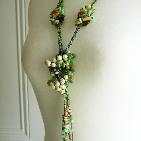 Love Knot Necklace - Spring Earth