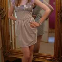 Silky Silver Grey Dress  Reduced
