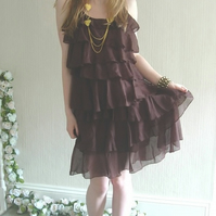 Ruffled Layered Party Dress