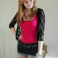 Cropped Lace Jacket