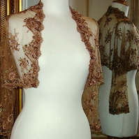 Custom Made Bolero - Embroidered & Beaded Tulle