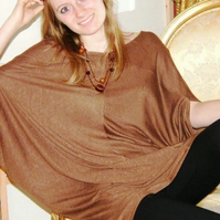 Comfy Batwing Top Brown or Grey