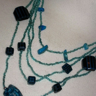 Necklace - Blue Nuggets