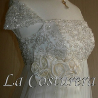Lace Embellished Empire Bridal Gown