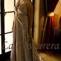 Athena - Custom Draped Wedding Gown