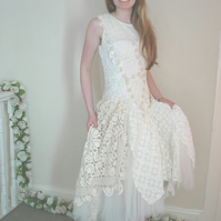 Nathalie - Crocheted Custom Wedding Dress