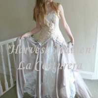 Harvest Maiden Custom Handmade Vintage Lace Bridal Gown