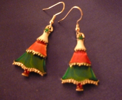 Xmas Earrings Christmas Trees
