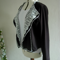 Silky Jersey and Lace Jacket
