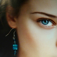 'Elvish' Earrings Custom Colours - Glass & Crystal