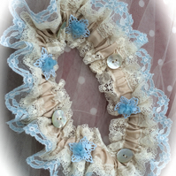 Victoriana Wedding Garter - Blue