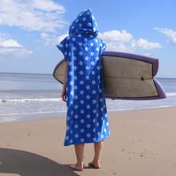 Blue Spotty 'Cover Up Surf' changing towel
