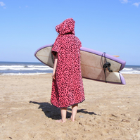 Leopard print 'Cover Up' Surf changing towel