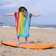 Kids striped 'CoverUp' surf changing towel