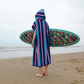 Striped 'Cover up surf' changing towel